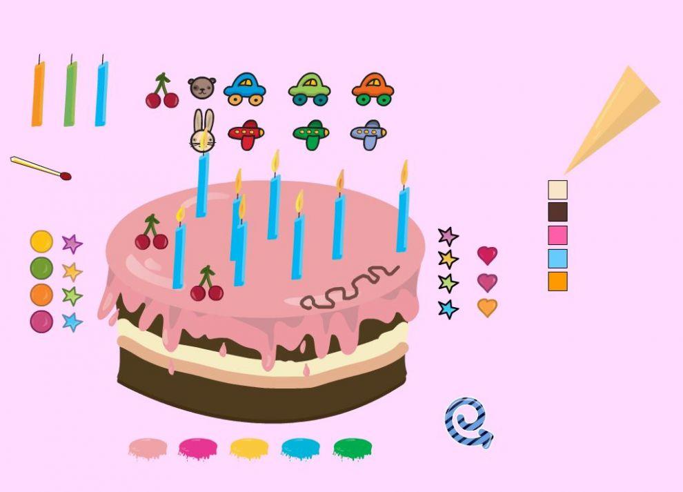 verjaardagstaart digitaal