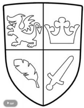 kleurplaten ridder schilden