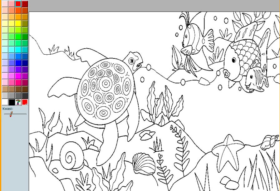Kleurplaten Van Onderwaterdieren.Kleurplaat Onderwaterwereld