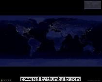 verdeling van de verlichting op de aarde (erg mooi)