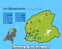 13. Topografie Nederland: Elfstedentocht