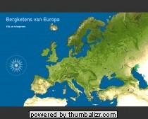 Toporopa Topografie Quiz: bergen van Europa