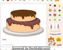 taart van schoolbordportaal