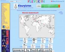 Kleurplaten voor kinderen: Wereld klederdracht