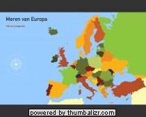 Toporopa Topografie Quiz: meren van Europa