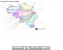 De geografische streken van België