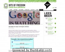 Internetters de dupe van Google's willekeur «  Bits of Freedom