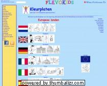 Kleurplaten voor kinderen: Aardrijkskunde landen van Europa