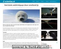 Veel dode zadelrobpups door smeltend ijs - Scientias.nl