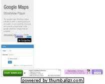 Google Maps Streetview Player