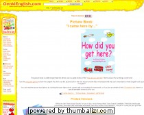 ESL Picture Book How did you get here? Modes of Transport!