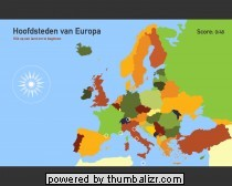 Toporopa Topografie Quiz: hoofdsteden van Europa