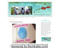Little Wonders' Days: Printmaking Easter Eggs