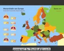 Toporopa Topografie Quiz: monarchieën van Europa